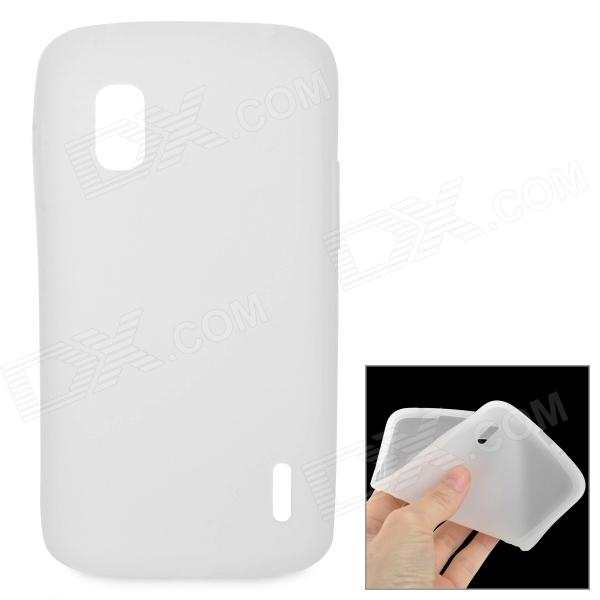 Protective Silicone Back Case for LG Nexus 4 E960 - White protective silicone back case for lg nexus 4 e960 purple