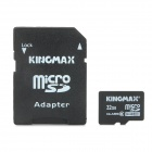 KINGMAX Micro SDHC Card with SD Card Adapter  - Black + Gray (32GB / Class 6)