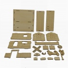 003 3D Woodcraft Assembly DIY Music Box Bar Puzzle - Beige (3-Board)