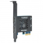 ORICO PAS3064-2S2E Desktop Computer SATA 3.0 PCI-E Expansion Card - Black + Blue