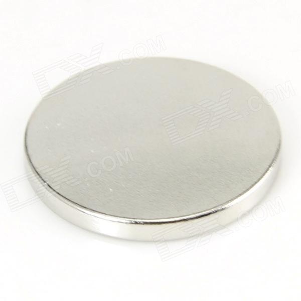 Jtron 10050102W Coin-shaped Strong NdFeB Magnet - Silver