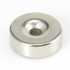Jtron 10050099W Round Hole NdFeB Magnet - Silber