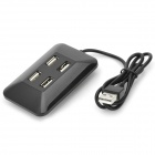 Magnetic Fixed 4-Port USB 2.0 Hub - Black