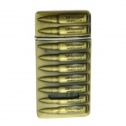 Bullet Clip Modelling Windproof Butane Gas Lighter - Brass