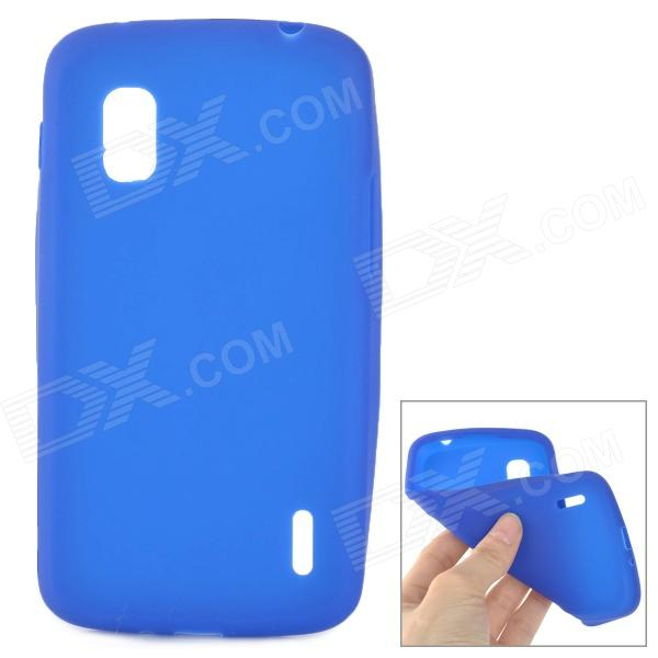 Protective Silicone Back Case for LG Nexus 4 E960 - Blue protective silicone back case for lg nexus 4 e960 purple