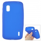 Protective Silicone Back Case for LG Nexus 4 E960 - Blue