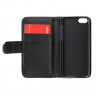 Protective Maple Leaf Style Crystal PU Leather Case for Iphone 5C w/ Card Slot - Black