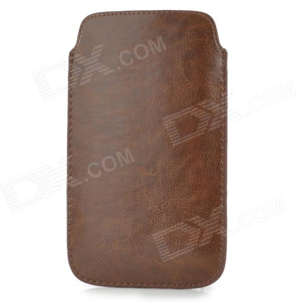 Protective PU Leather Pouch Bag Case for Samsung Galaxy Note 3 - Brown