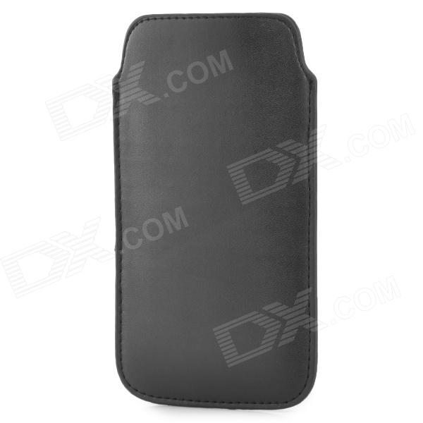 Protective PU Leather Pouch Bag Case for Samsung i9295 - Black