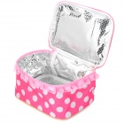 Cute Dots Pattern USB Powered Lunch Box Heated / Warmer Bag - Pink + White + Golden