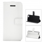 Stylish Protective PU Leather Case w/ Card Holder for Iphone  5c - White