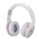 I-ROCKS IH3-WE Stylish Gaming Headphones w/ External Microphone - White + Silver + Red (3.5mm Plug)