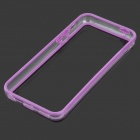 Protective Plastic + TPU Bumper Frame for Iphone 5C - Purple + Transparent