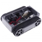 Multifunktions Robby RP-5 Robot Chassis Tracing Panzer Chassis Fahrzeugortung - Schwarz