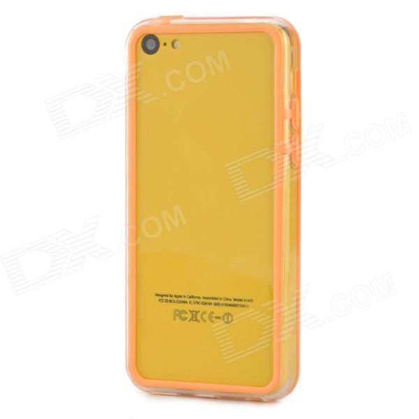 Protective Plastic + TPU Bumper Frame for Iphone 5C - Orange