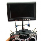 Skya 7~8 Inch FPV Monitor Mount to Futaba / JR/WFLY Transmitter with Metal Bar Type - Black