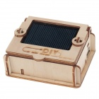 Sun Idea Solar EK-SDIY04-V Powered DIY 3D AA Battery Charger Style Wooden Puzzle Toy - Oyster White