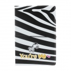 PVC Zebra Pattern Passport Holder - Black + White