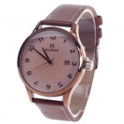 Daybird 3796 Women's Quartz Wrist Watch w / Arabic Numeral Scale / Simple Calendar - Brown + Coffee