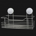 CHELLY P280018 304 Stainless Steel Bathroom Shelf w/ Suction Cup - White + Silver