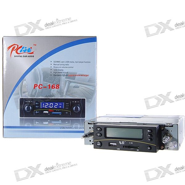 "In-Dash Stereo 2.7"" LCD SDHC SD/MMC MP3 Player + AM/FM Radio with USB Host"