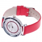 Daybird 3803 Fashion PU Leather Band Women's Quartz Analog Wrist Watch - Red + Silver (1 x LR626)