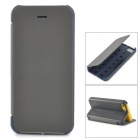 Folding Protective TPU + PU Leather Case for Iphone 5C - Grey + Black + Blue