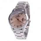 Daybird 3793 Fashion Big Dial Men's Quartz Watch w/ Simple Calendar - Silver + Apricot (1 x LR626)
