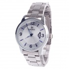 Daybird 3793 Fashionable Big Dial Men's Quartz Wrist Watch w/ Simple Calendar - Silver (1 x LR626)
