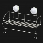 CHELLY P280022 304_Stainless_Steel_Kitchen Organizer_Shelf_w / _Suction_Cup_-_white_ + _Silver