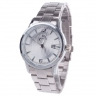 Daybird 3792 Fashionable Big Dial Men's Quartz Watch w/ Simple Calendar - Silver + White (1 x LR626)