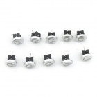 Light Touch Switches w / Red Light-prata (10 PCS)