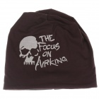 Stylish Skull Pattern Soft Hat Cap - Brown + White