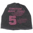 Stylish Number 5 Soft Hat Cap - Deep Grey + Pink