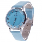 Daybird 3800 Fashion Women's Quartz Wrist Watch w/ Diamante Scale / Dodecagon Ratent - Blue + Silver