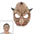Halloween Multi-horn Monster Mask - Beige + Schwarz