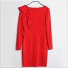 Stud Fashion Slim robe manches longues - rouge (taille libre)