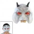 Halloween Cavel Monster Maske - weiß + rot + Dark Green