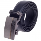 Fashionable Men's Cow Split Leather Belt w/ Zinc Alloy Automatic Buckle - Black