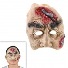 Halloween Scarred Face Ghost with A Big Pustule Mask - Red + White