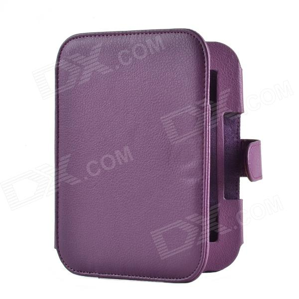 Frame Pattern Protective E-book Case for Barnes & Noble Nook 2/3 - Purple