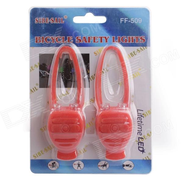 Bicycle Cycling Silicone Safety Lights - Red