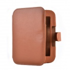 Frame Pattern Protective E-book Case for Barnes & Noble Nook 2/3 - Brown