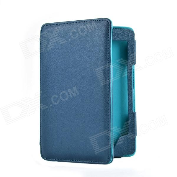 Protective PU Case w/ Magnetic for Amazon Kindle 4/5 E-Book - Dark Blue