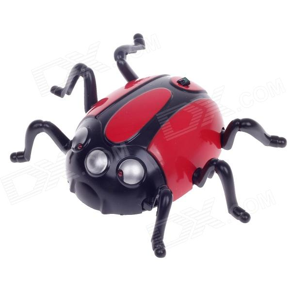 Gold Rosita 3:1 Delicate IR Remote Control Mini Wall Climber Beetle Model Toy - Red + Black + Silver