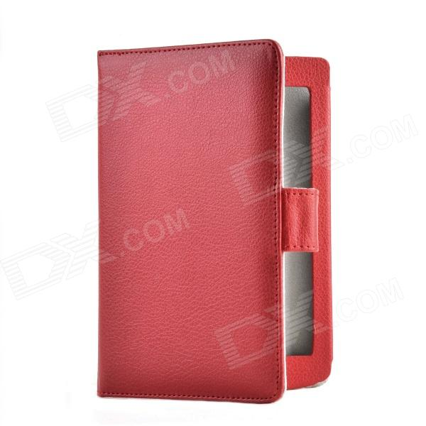 Handheld Style Protective PU Case for Sony T2 E-Book - Red