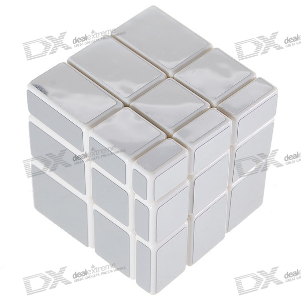 Silver Irregular 3x3x3 Brain Teaser Magic IQ Cube bead in cage wooden puzzle brain teaser iq toy