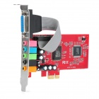 PCI-E CMI8738 6-Channel Sound Card - Red + Multicolored