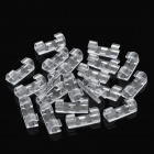 EKB-504 Cable Management Wiring Buckles - Transparent (20 PCS)