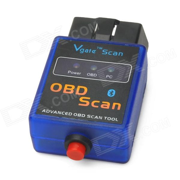 ELM327-K Vehicle Mini Bluetooth OBD-II Code Reader Diagnostic Scanner w/ Switch - Blue + Black bluetooth elm327 obd2 diagnostic scanner with power switch
